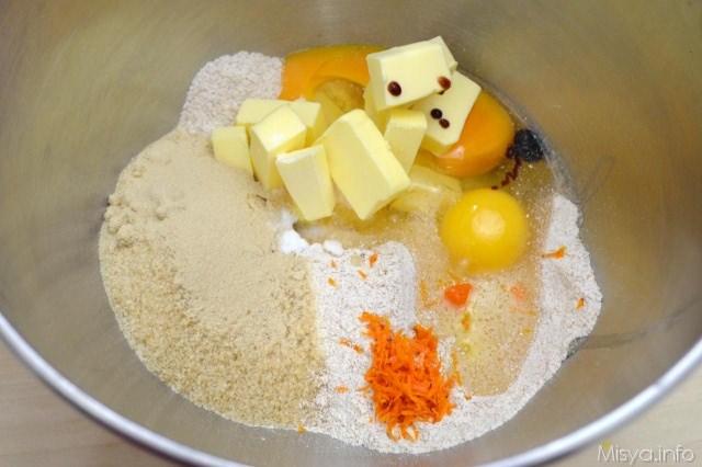1 farina burro uova