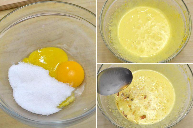1 montare uova