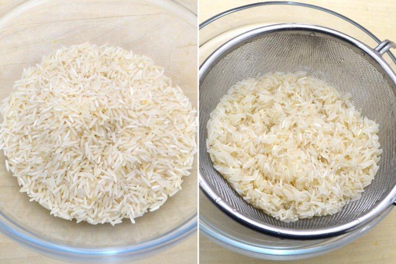 1 sciacquare il riso