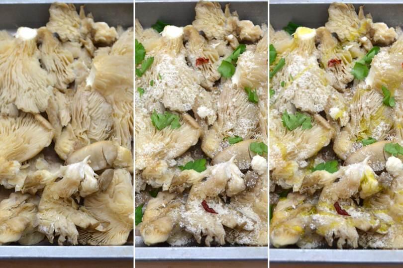 Funghi pleurotus al forno - Ricetta Funghi pleurotus al forno di Misya