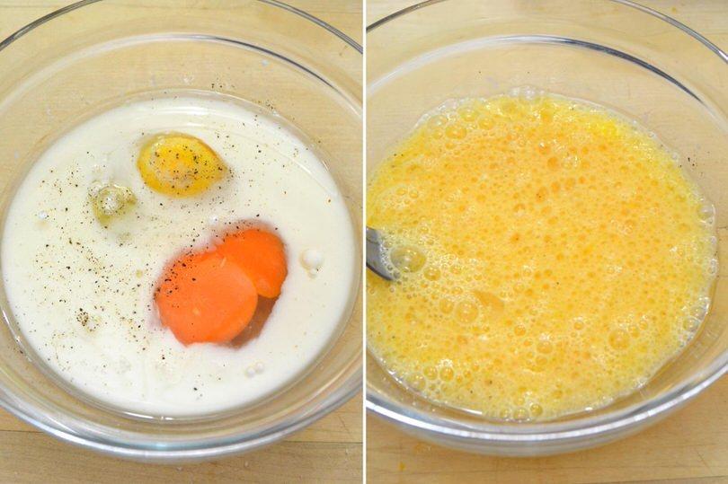 2 uova e latte