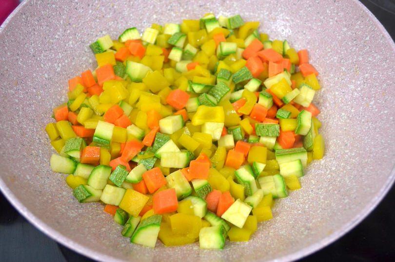 5 verdure in padella