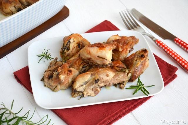 Coniglio al forno ricetta coniglio al forno di misya - Ricette monica bianchessi pronto in tavola ...