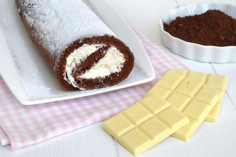 rotolo al cioccolato bianco
