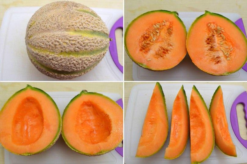 1 aprire e tagliare melone