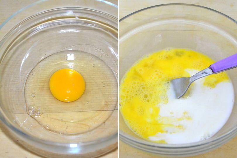 1 uova e latte