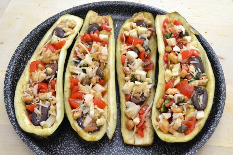 melanzane a barchetta - ricetta melanzane a barchetta di misya - Come Cucinare Le Melanzane Ripiene