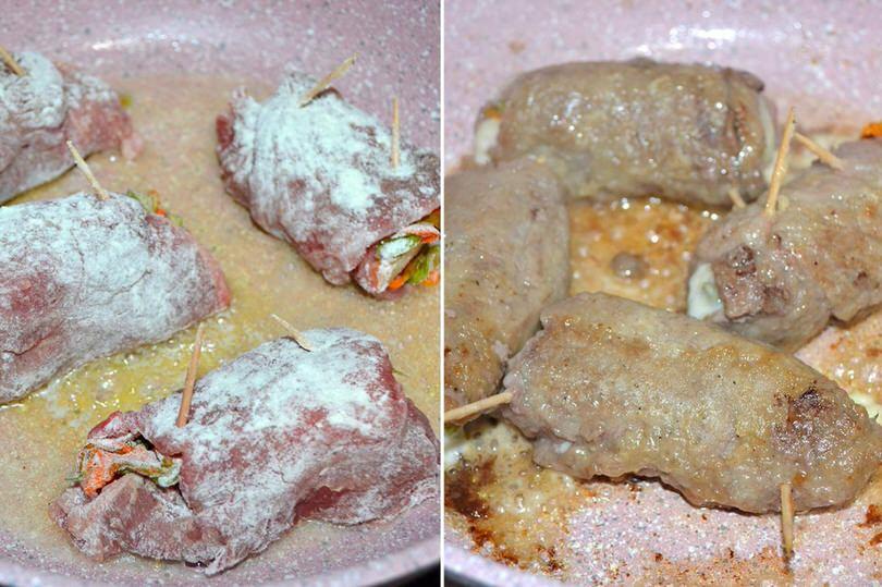 5 cuocere fettine in padella