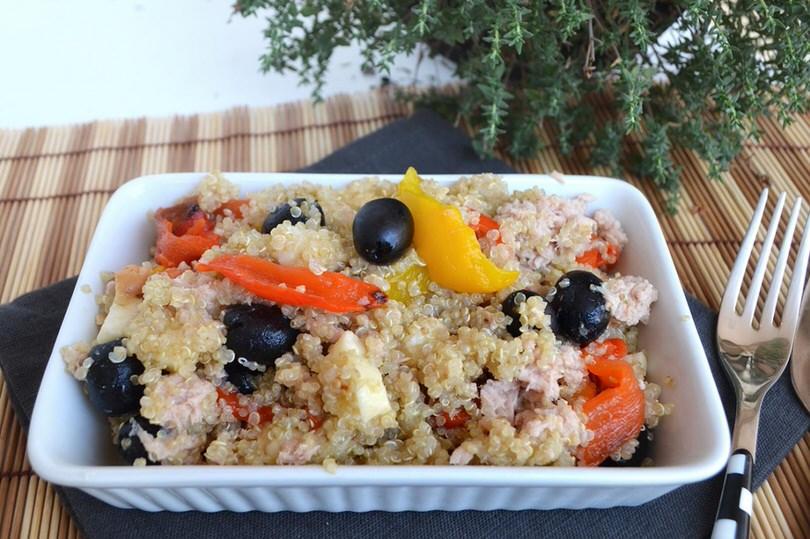 Ricette  Insalata di quinoa con peperoni e tonno