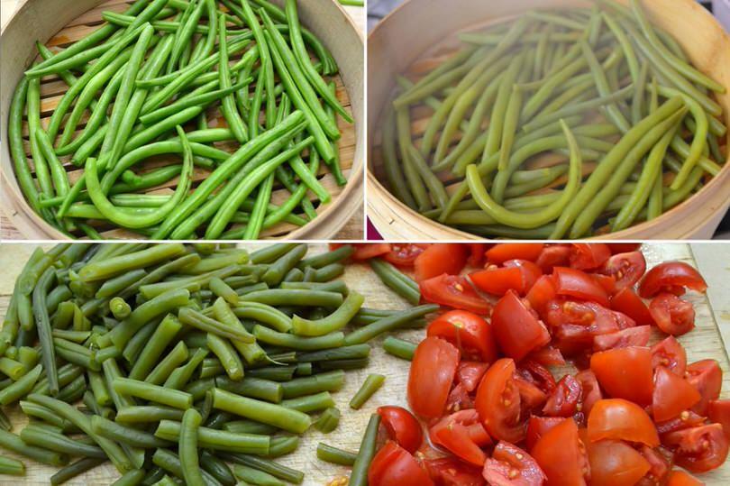 fagiolini e pomodorini