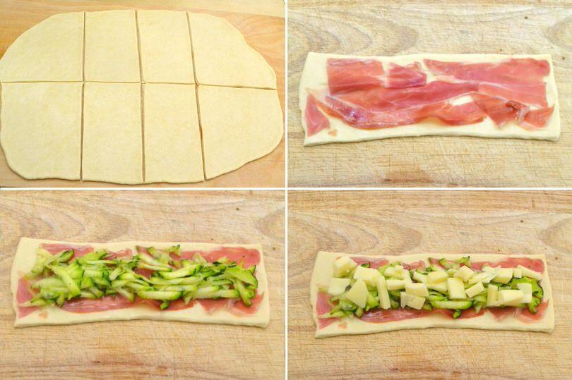 farcire con zucchine prosciutto formaggio