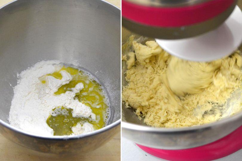impastare olio farina
