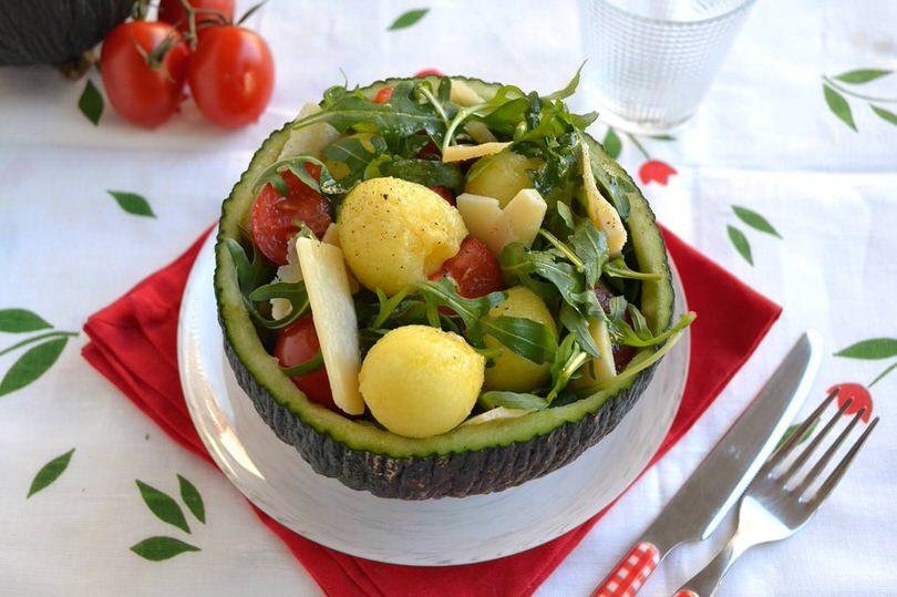 Insalata di melone ricetta insalata di melone di misya for Insalate ricette