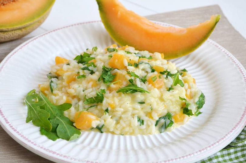 Risotto al melone e rucola ricetta risotto al melone e for Ricette risotti veloci