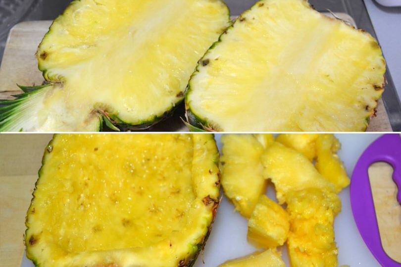 tagliare ananas