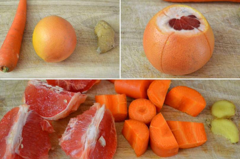 1 carota pompelmo zenzero