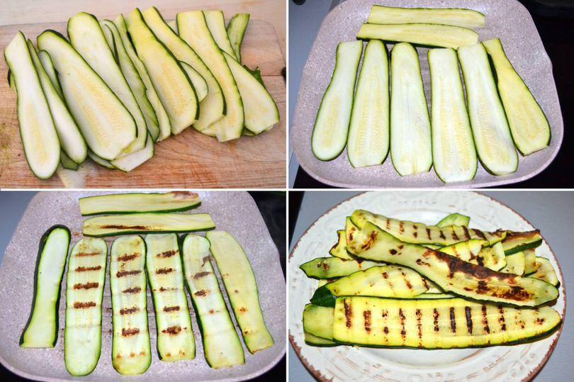 1 grigliare zucchine