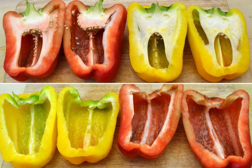 1 tagliare peperoni