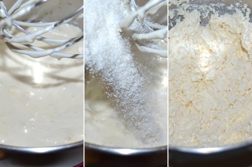 2 aggiungere farina di cocco