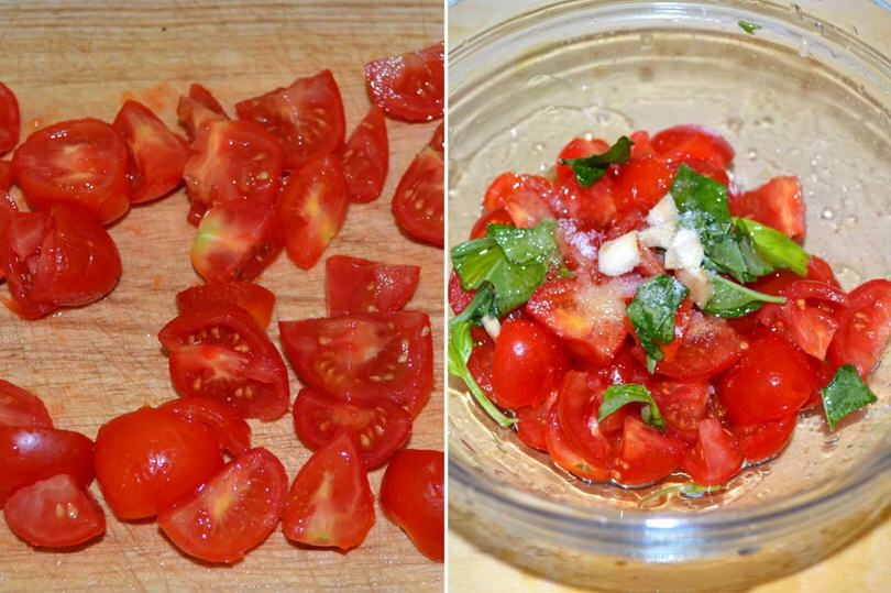 2 tagliare pomodorini