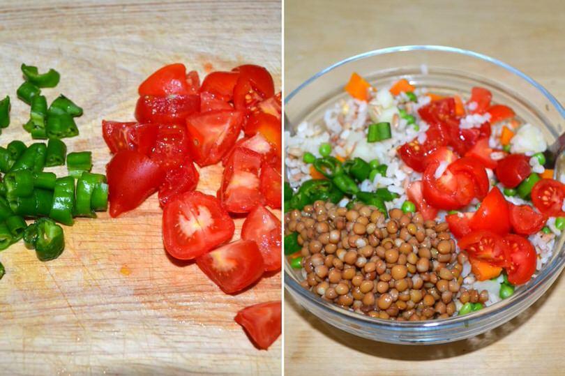 3 aggiungere lenticchie