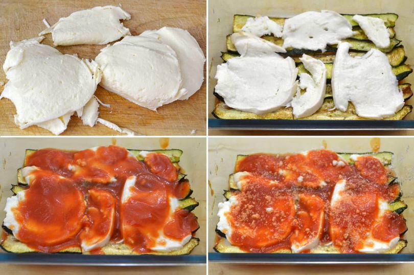 4 strato mozzarella