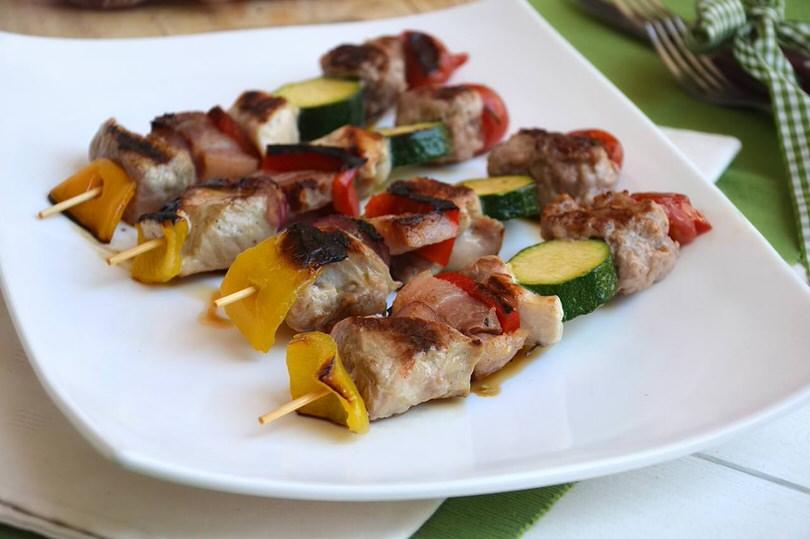 spiedini di carne e verdure ricetta spiedini di carne