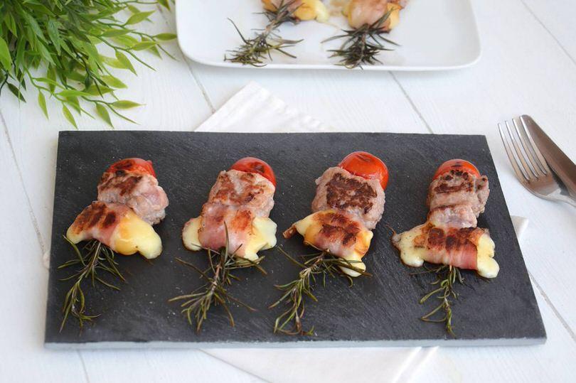 Ricette Secondi piatti Spiedini salsiccia e rosmarino