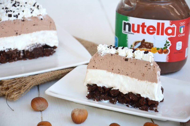 Torta gelato alla Nutella