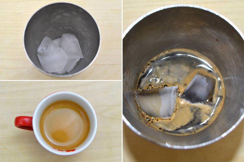 ghiaccio e caffe