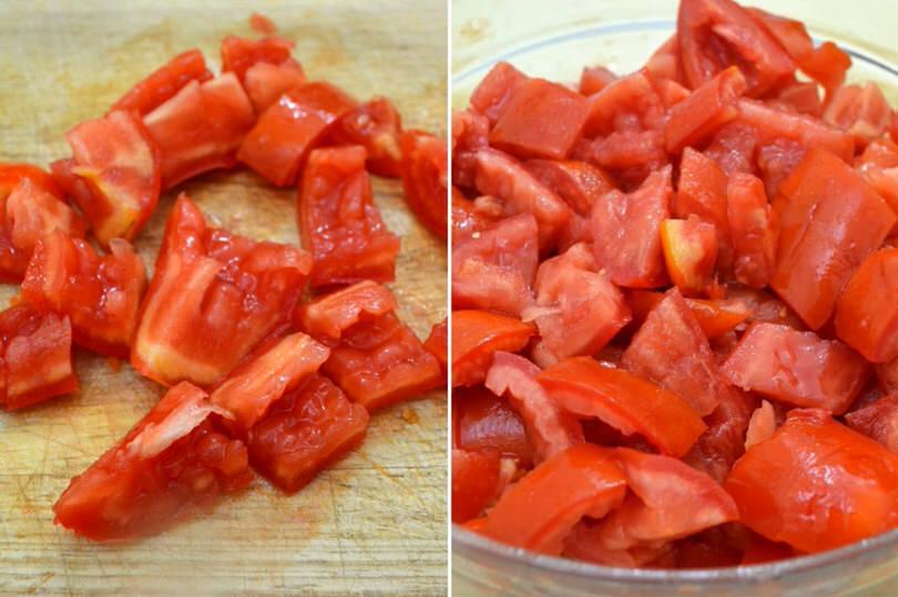 2 tagliare pomodori