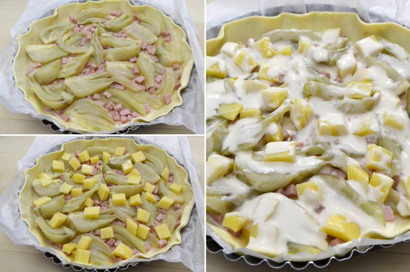 Popolare Torta salata con finocchi e prosciutto - Ricetta Torta salata con  GB15