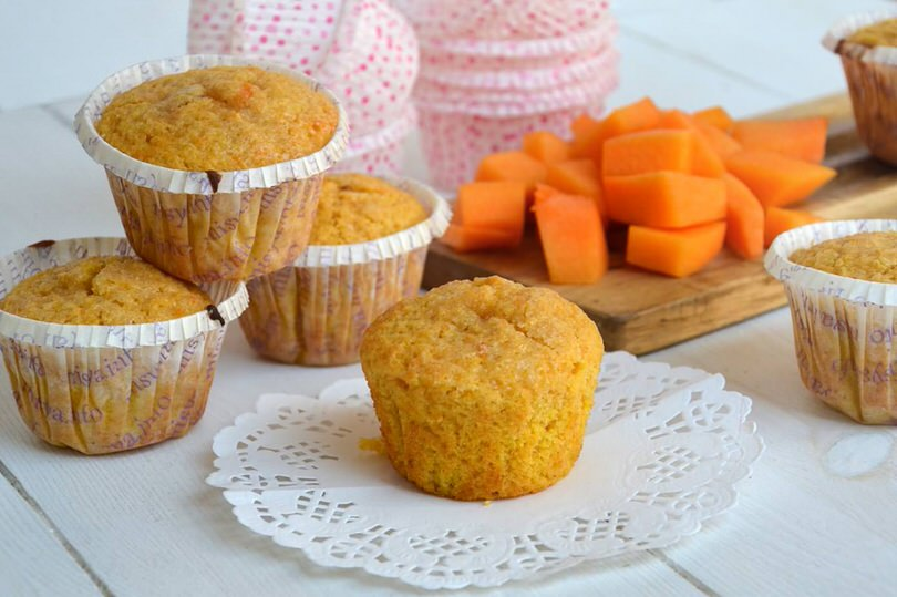 Muffin alla zucca ricetta muffin alla zucca di misya for Cucinare a 70 gradi