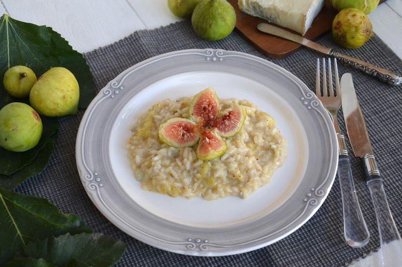 risotto fichi e gorgonzola