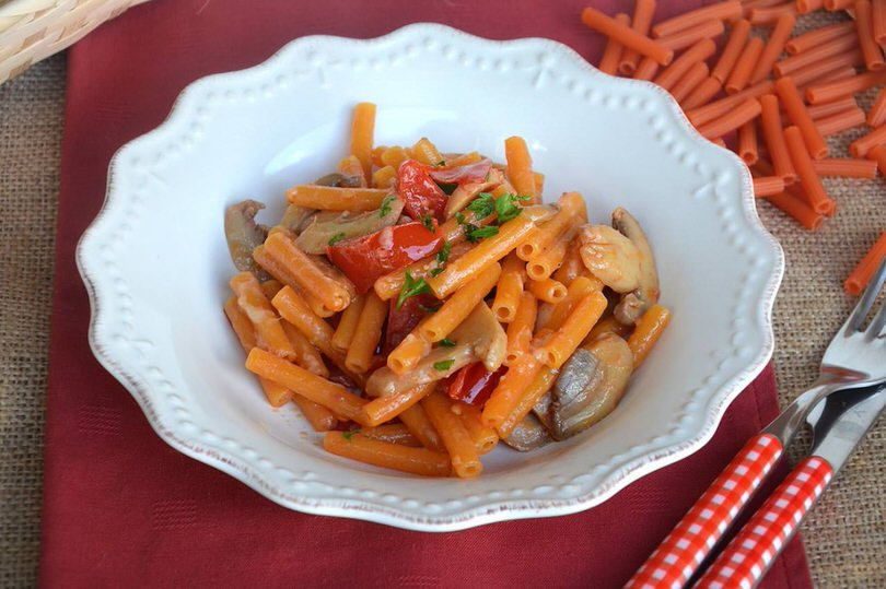 Pasta di lenticchie con i funghi ricetta pasta di for Primi piatti ricette bimby