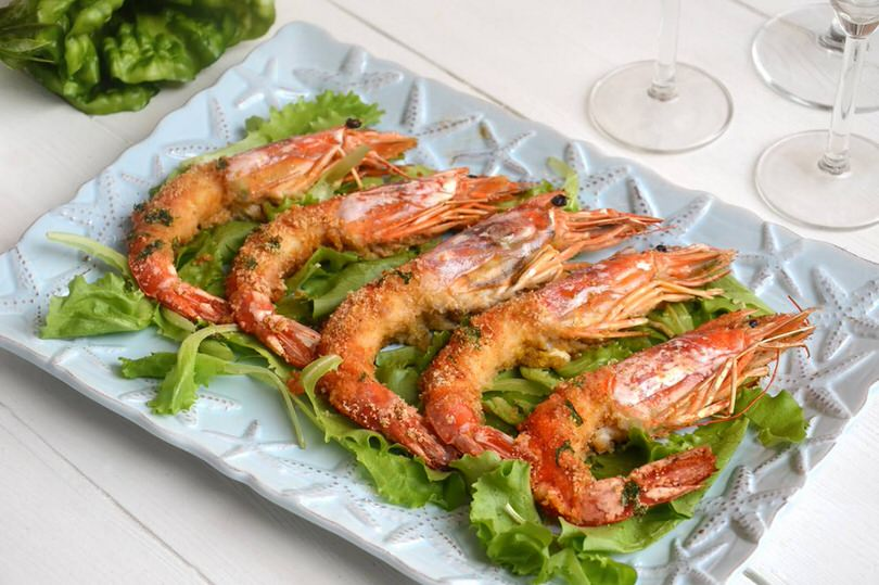 Gamberoni al forno ricetta gamberoni al forno di misya for Secondi piatti di pesce