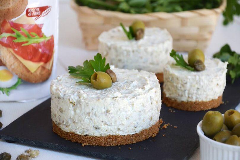 Cheesecake salato alle olive
