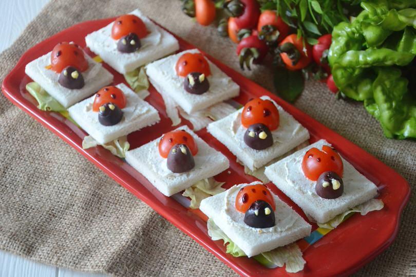 tartine coccinella - ricetta tartine coccinella di misya