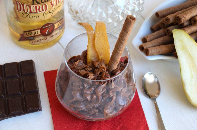 Mousse al cioccolato e rum