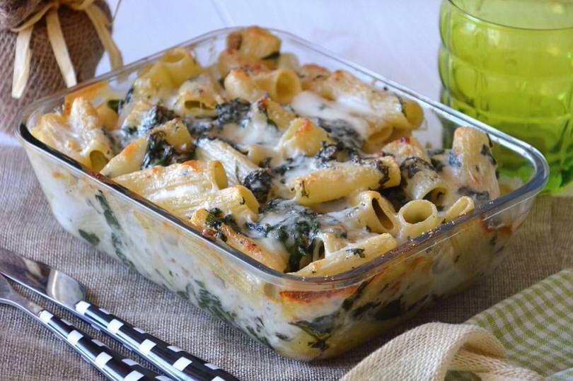Rigatoni spinaci e noci