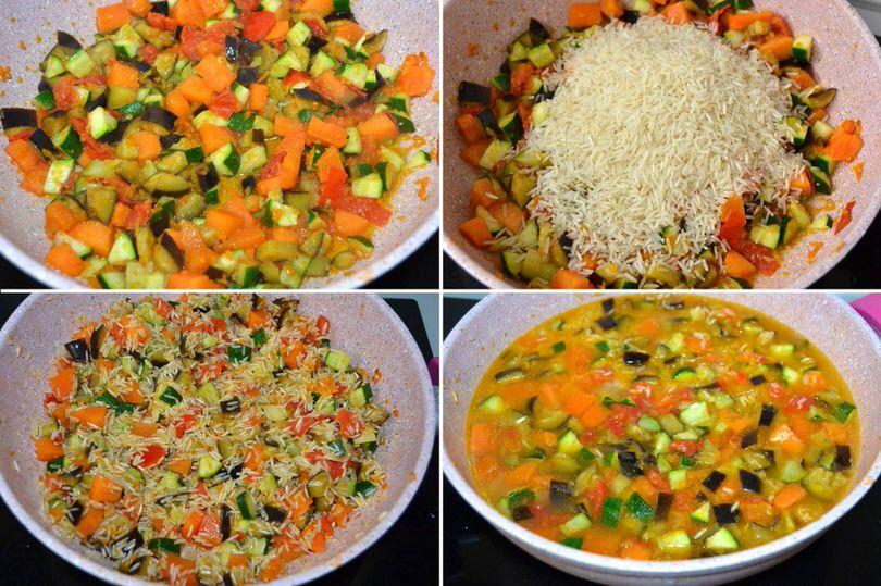 2 cuocere verdure con riso