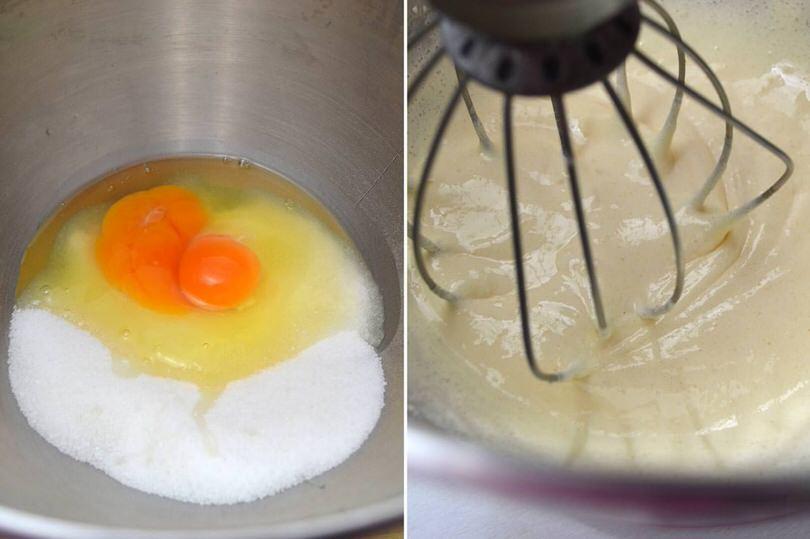 2 montare uova e zucchero