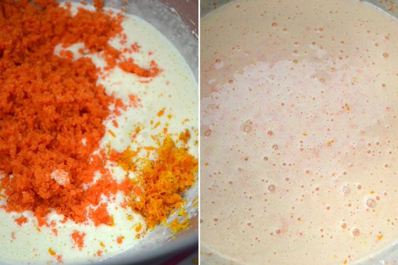 3 aggiungere carote e arance