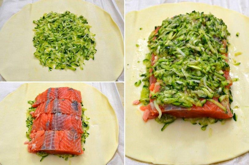 3 salmone sulla sfoglia