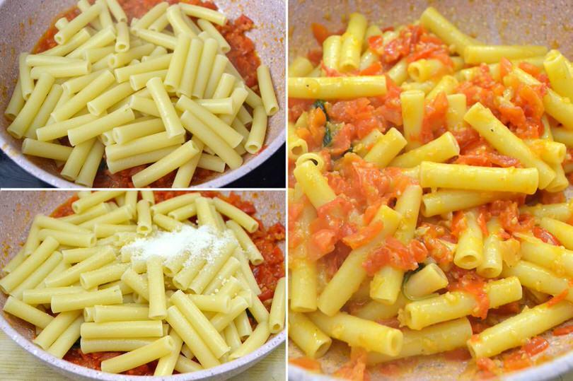 4 aggiungere pasta