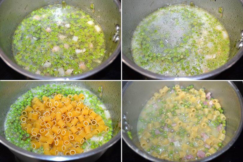 1 aggiungere la pasta