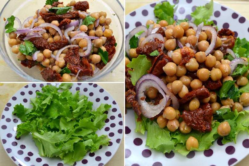 2 aggiungere insalata