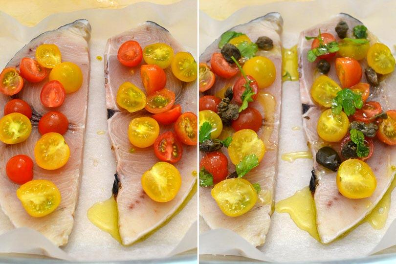 2 condire fette di pesce spada