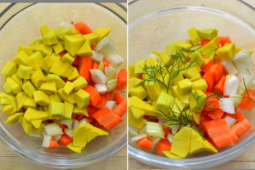 2 verdure nella ciotola