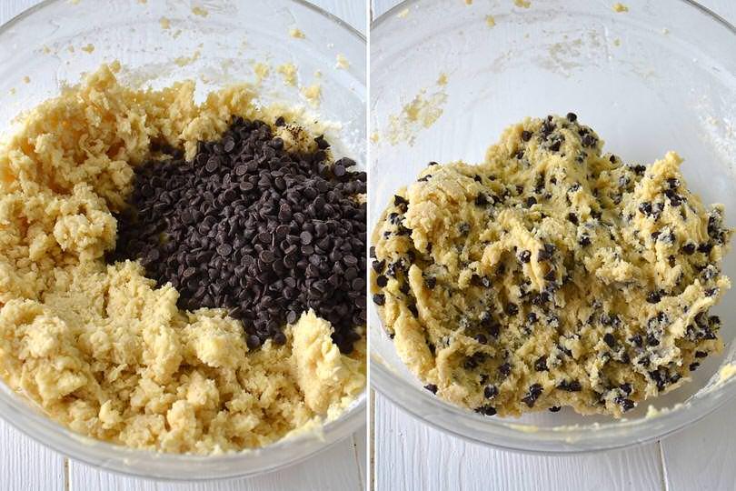3 aggiungere gocce di cioccolato